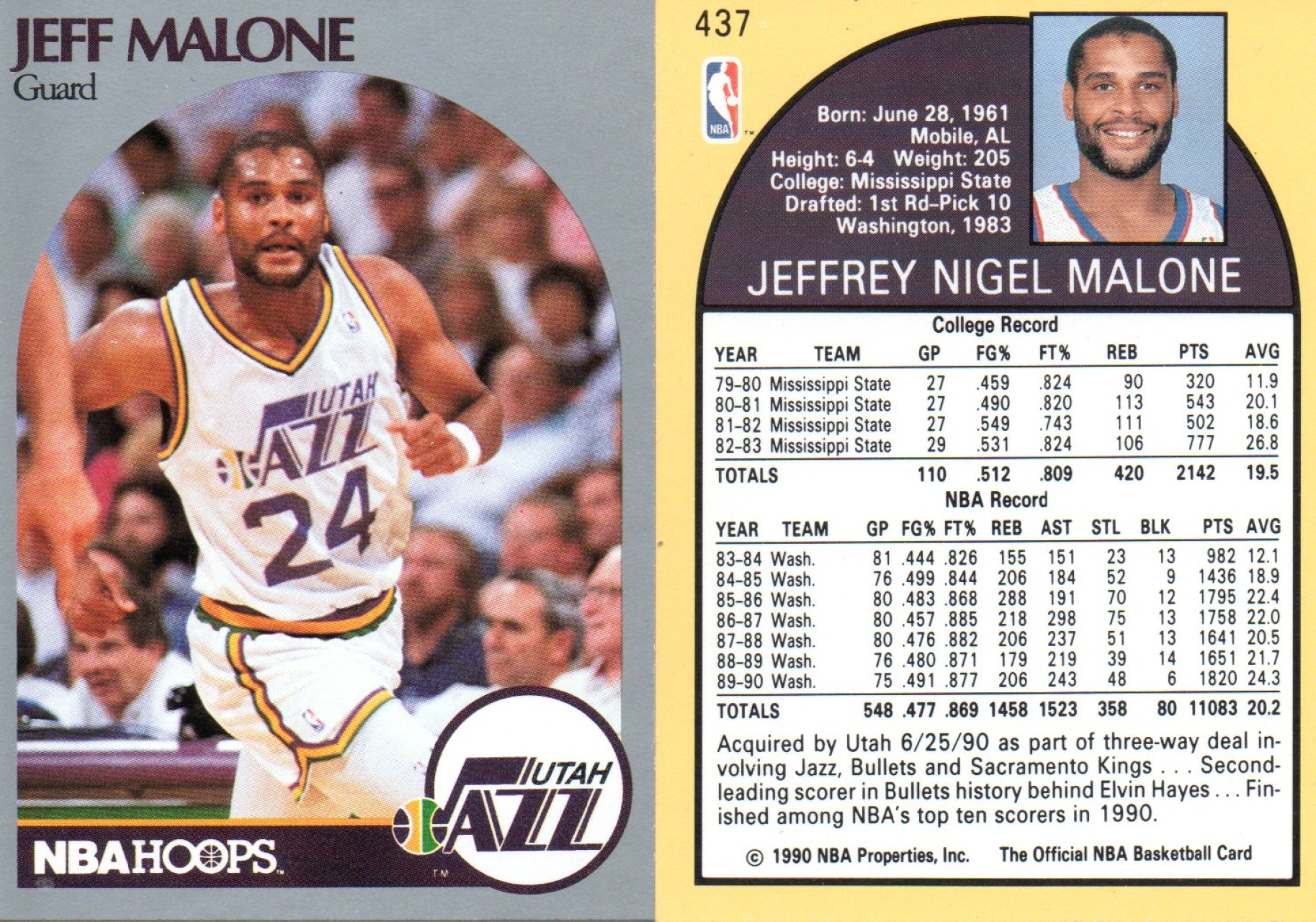 Find Your Favorite 1989 1991 Utah Jazz Basketball Trading cards