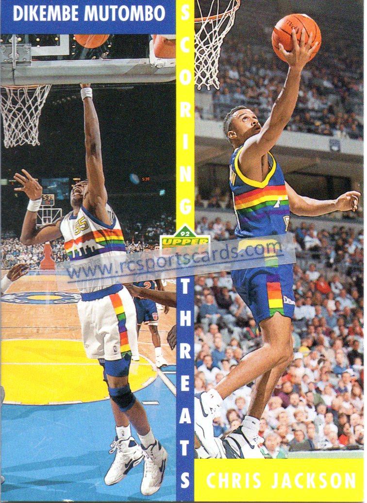 NUGGETS Dikembe Mutombo Hof 1992 Starting Lineup Basketball 67911